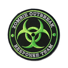 Embroidered Zombie Outbreak Response Team Green Sew or Iron on Patch Biker Patch