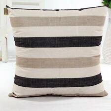 Fashion Stripe Sofa Bed Home Decor Pillow Case Cushion Cover Flax Square Pillow