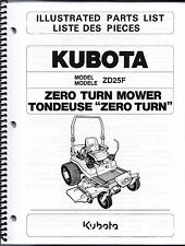 Kubota ZD25 Zero Turn Mower Illustrated Parts Manual 97898-41590