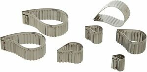 Stainless Steep Fluted Comam Cutter Set - 7 Pieces - Ateco 5207