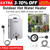 Hot Water Heater Portable Shower Gas Wall Mounted Camping Caravan System Nozzle