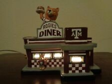 Slavic College Treasures Texas A&M Aggies Diner Lighted Village 2003
