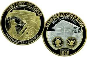COLOSSAL CALIFORNIA GOLD RUSH COMMEMORATIVE COIN PROOF LUCKY MONEY VALUE $129.95