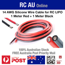 14 AWG Silicone Wire Cable for RC LiPO - 2 Meters - Aust Post Priority Shipping