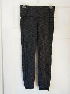 EUC Athleta Black & Grey Exercise Work-Out Leggings Size S