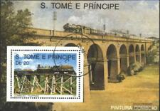 Sao Tome e Principe block211 (complete.issue.) fine used / cancelled 1989 Locomo