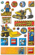 Creative Imaginations Scrapbook Stickers Epoxy Lego City Construction
