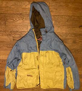 Burton Mens Ski Snowboard Jacket Size XL Blue And Yellow