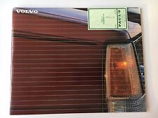 1987 Volvo 700 Series Color Sales Brochure/Catalog 740 and 760 Sedans/Wagons