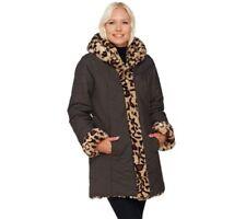 Abrigos y chaquetas de mujer marrones de poliéster talla M