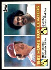 1984 Topps #132 Mike Schmidt/Jim Rice LL NM-MT *1782