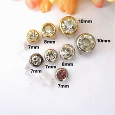 20X 7/8/10mm Metal Rhinestone Studded Studs Round Studs Crystal Rivets 4 Colors