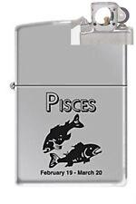 Zippo 9284 horoscope pisces Lighter with PIPE INSERT PL