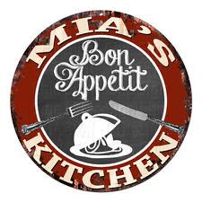 CPBK-0743 MIA'S KITCHEN Bon Appetit Chic Tin Sign Decor Gift Ideas