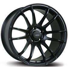 Avid1 AV20 18X8.5 Rim 5x100mm +33 Black Wheels Fits Impreza Golf Corolla Tc