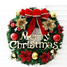 30cm Christmas Wreath Garland Ornaments Decor for Xmas Showcase Door Decoration