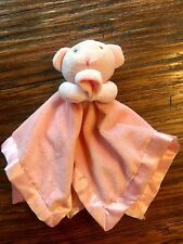 Small Wonders Pink Mouse Bear Nunu Baby Security Blanket Snuggle Lovey Toy