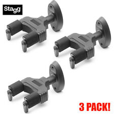 3 PACK! Stagg GUH-TRAP Guitar Bass Acoustic Hanger Wall Mount w/ Locking System