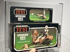 AFA U90 Star Wars Kenner 1983 ROTJ Return of The Jedi Speeder Bike MISB Sealed