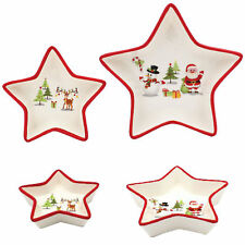 Festive Fun Christmas Tableware Serving Dishes - Set of 2 Star Dishes