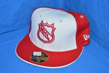 NHL HOCKEY DETROIT RED WINGS NEW ERA RED WHITE WOOL FITTED HAT CAP 6 7/8