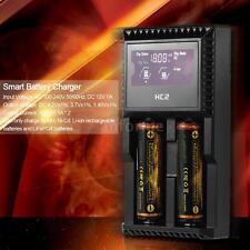 Smart LCD Battery Charger f/ Rechargeable AA AAA Ni-MH Ni-Cd Li-ion LiFePO4 I4C2