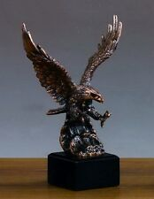LARGE Attacking Eagle 10 x 14 Beautiful Bronze Statue / Sculpture
