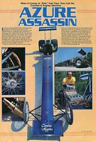 1981 Great Centerfold Pic of Candies & Hughes Azure Assassin Top Fuel Dragster