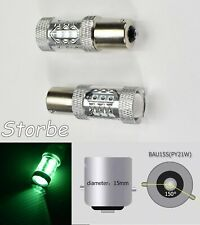 Strobe 7507 BAU15S PY21W 80W LED Projector Green Bulb Front Signal B1 JP USA Eur