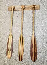 Canoe Paddle Display Rack / Hanger- Wall Mount- Solid Ash Wood