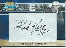 * 2016-17 President's Choice Centennial Blue & White RED KELLY Papercuts Auto