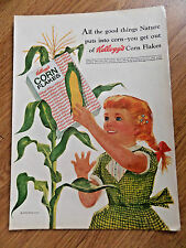 1958 Kellogg's Corn Flakes Ad   All the Good Things Nature Puts into Corn
