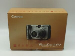 Canon PowerShot A610 Digital Camera in Box w/ Instructions User Guide PARTS