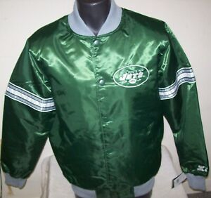NEW YORK JETS Starter THROWBACK Snap Down Jacket GREEN  M L XL 2X