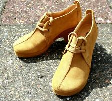 Clarks Originals Ladies Brown Suede Lace up Mules Shoes Size UK 5 EU 38 US 7