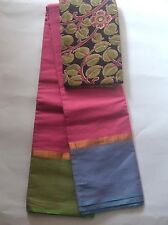 South Cotton pure handloom saree Rain Collection Design 8 Bubble gum pink
