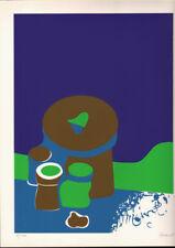 FRANZ DANK - GREEN PURPLE * ORIGINAL HAND SIGNED & NUMBERED SERIGRAPH 1969