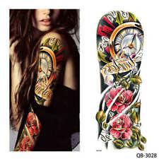 ROSE rosse Orologi Grandi adesivi per tatuaggi temporanei Body Art 3D Tatuaggi IMPERMEABILE