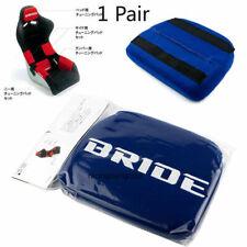 1 Pair Jdm Bride Blue Head Tuning Pad For Head Rest Cushion Bucket Racing Seat