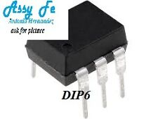 H11F1 TRANSISTOR-DIP6- Optocoupler DC-IN 1-CH DC-OUT     QTC OPTOCOPLADOR