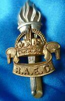 WW1 RAEC Royal Army Education Corps Cap Badge Slider Bi-Metal Genuine/Original