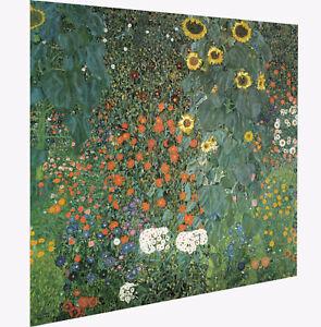 Gustav Klimt sunflowers art painting print landscape vintage europe