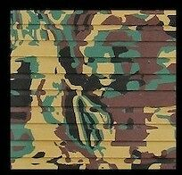 Hydro-Turf Sheet GREEN CAMO Boating Carpet cut Groove 37X58 sht40cg