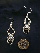 Large Spider Skull Earrings Tibetan Silver