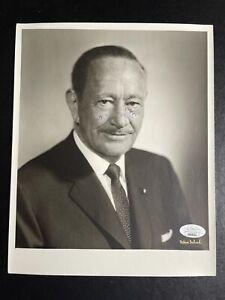 Conrad Hilton Signed 8x10 Photo Hotel Business Paris Autograph JSA
