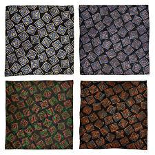 Lot of 4 Men's SANTOSTEFANO (Maker of Brioni) Silk Pocket Square Handkerchief