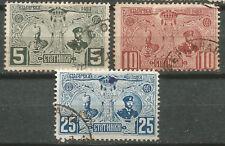 BULGARIA Scott# 74-76 1907  Ascensión al trono de Fernando I