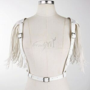 Sexy Women PU Leather Open Bust Bra Lingerie Body Cupless Harness Top Cage Belt