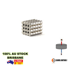 10X Rod 6mm x 6mm N38 Neodymium Cylinder Magnets | Rare Earth Craft Fridge Model