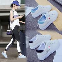 Women's White Shoes Korean Love Belt Comfortable Breathable Flat Bottom Shoes B